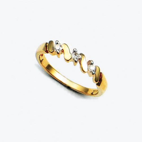 Ювелирное кольцо из красного золота 585 пробы с бриллиантами RD-6004