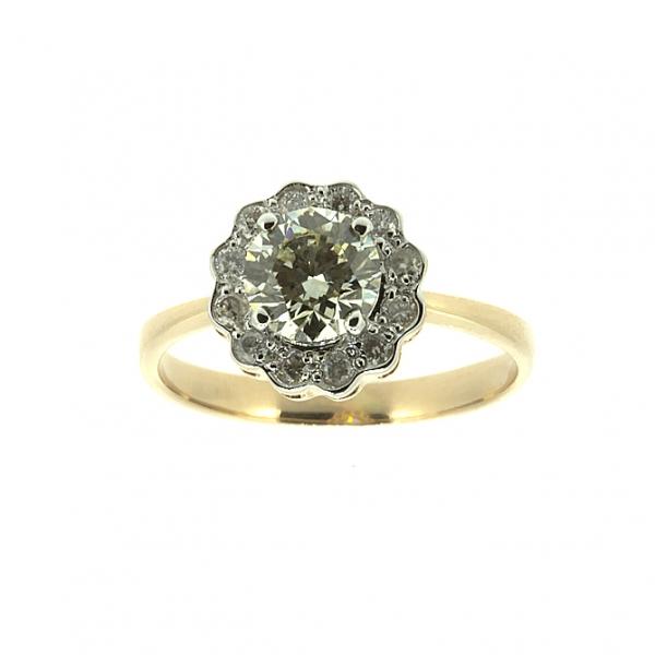 Ювелирное кольцо из красного золота 585 пробы с бриллиантами RD-6287