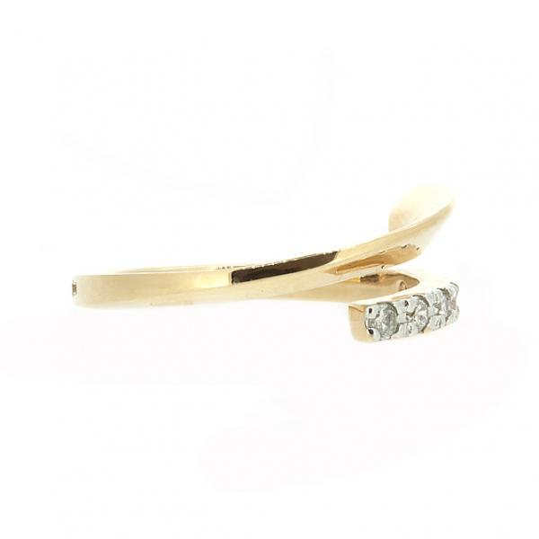 Ювелирное кольцо из красного золота 585 пробы с бриллиантами RD-6400