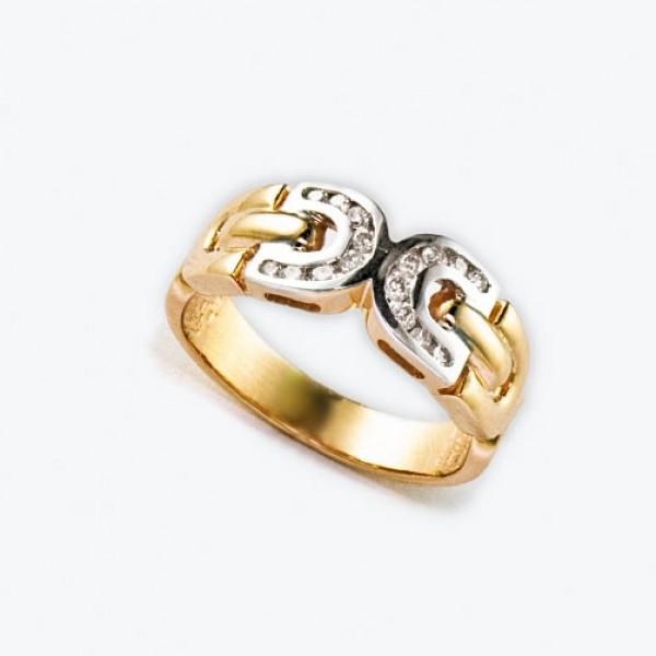 Ювелирное кольцо из красного золота 585 пробы с бриллиантами RD-6540