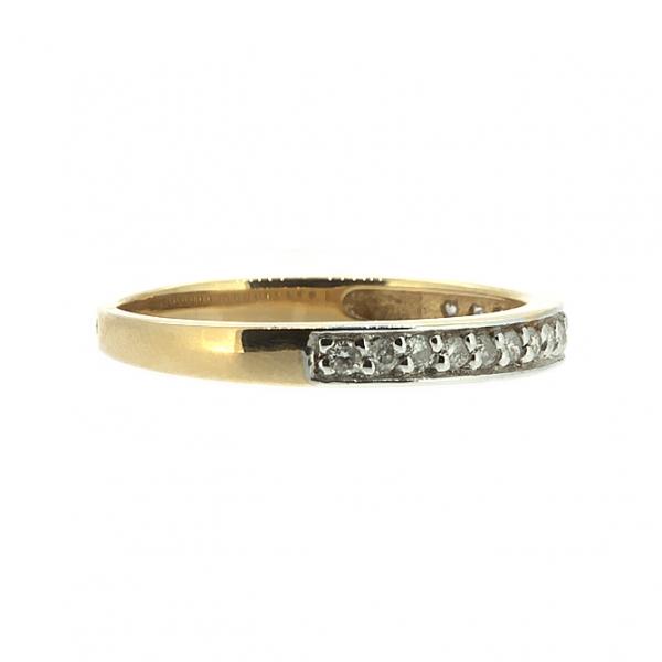Ювелирное кольцо из красного золота 585 пробы с бриллиантами RD-6566