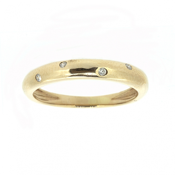 Ювелирное кольцо из красного золота 585 пробы с бриллиантами RD-7212