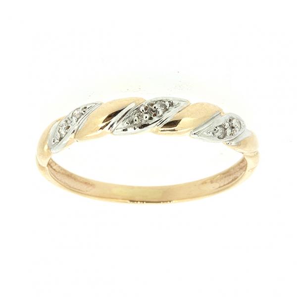 Ювелирное кольцо из красного золота 585 пробы с бриллиантами RD-9010