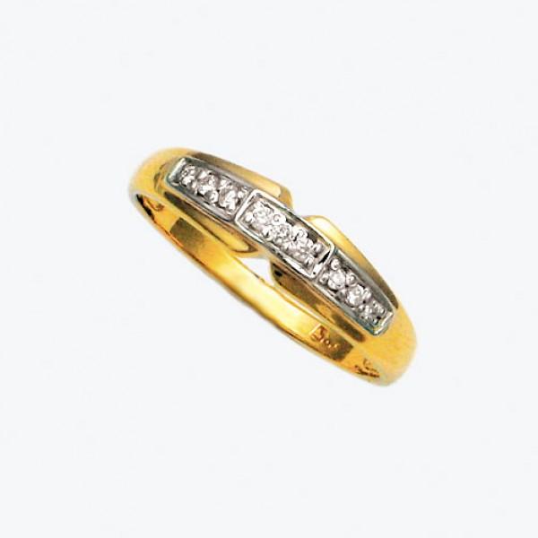Ювелирное кольцо из красного золота 585 пробы с бриллиантами RD-9024