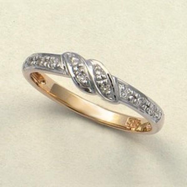Ювелирное кольцо из красного золота 585 пробы с бриллиантами RD-9037