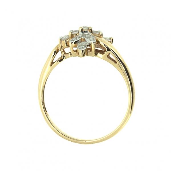 Ювелирное кольцо из красного золота 585 пробы с бриллиантами RD-9050