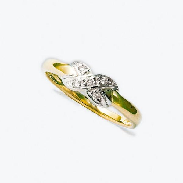 Ювелирное кольцо из красного золота 585 пробы с бриллиантами RD-9056