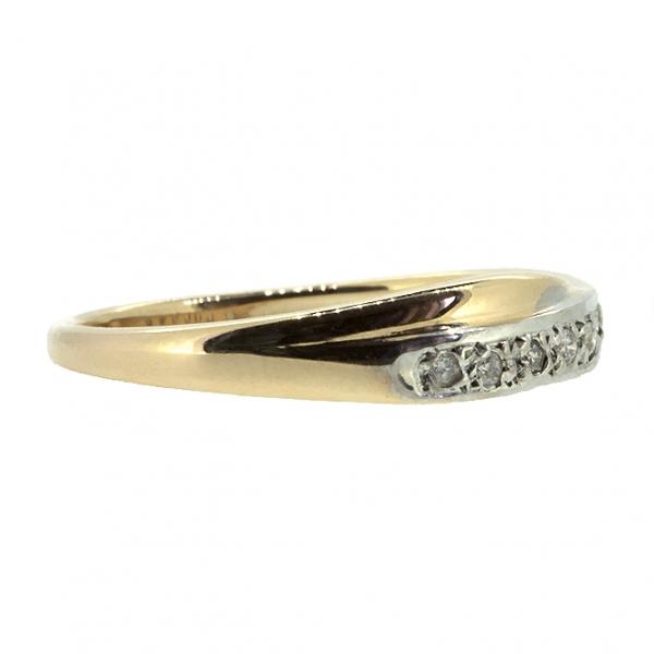 Ювелирное кольцо из красного золота 585 пробы с бриллиантами RD-9057