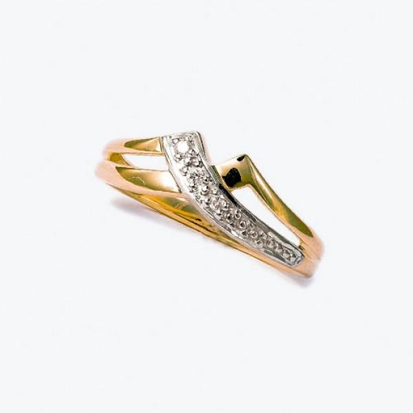 Ювелирное кольцо из красного золота 585 пробы с бриллиантами RD-9067