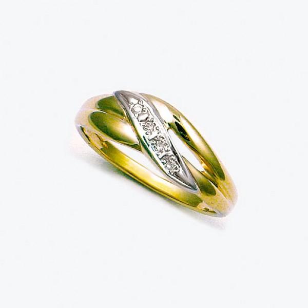 Ювелирное кольцо из красного золота 585 пробы с бриллиантами RD-9071