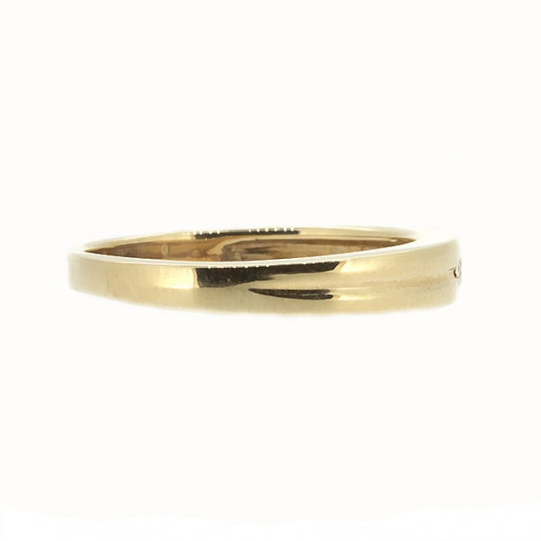 Ювелирное кольцо из красного золота 585 пробы с бриллиантом RD-87812
