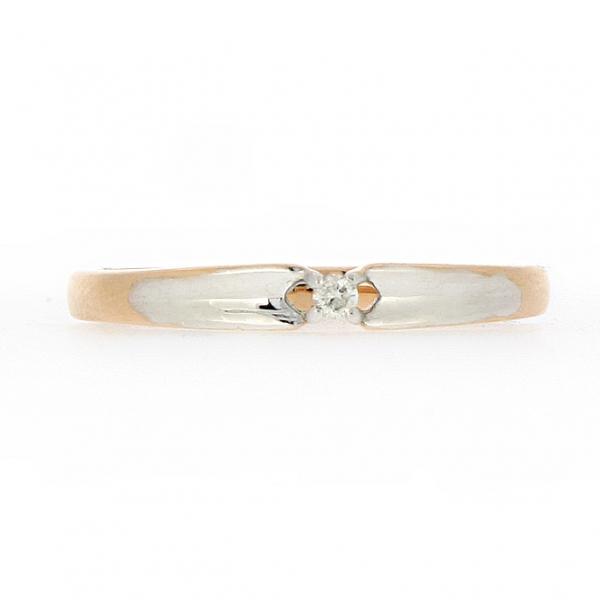 Ювелирное кольцо из красного золота 585 пробы с бриллиантом RD-3544