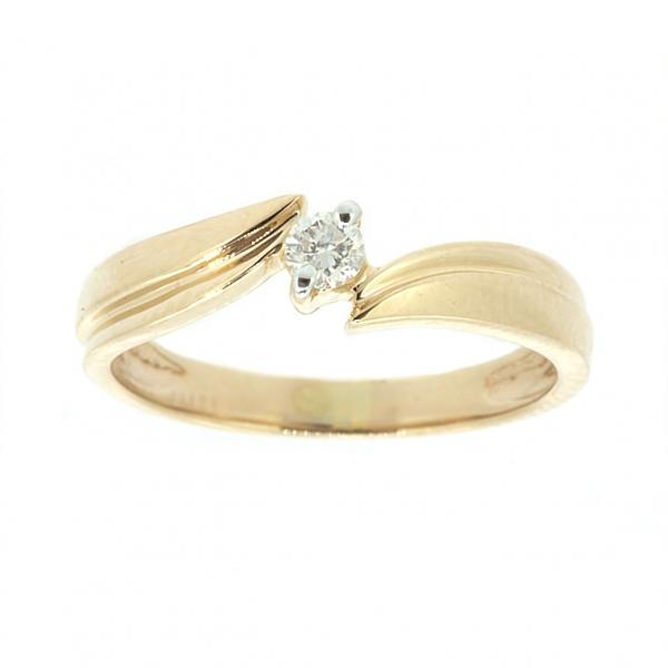 Ювелирное кольцо из красного золота 585 пробы с бриллиантом RD-4285