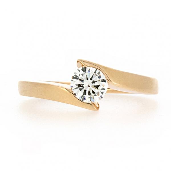 Ювелирное кольцо из красного золота 585 пробы с бриллиантом RD-6075-11