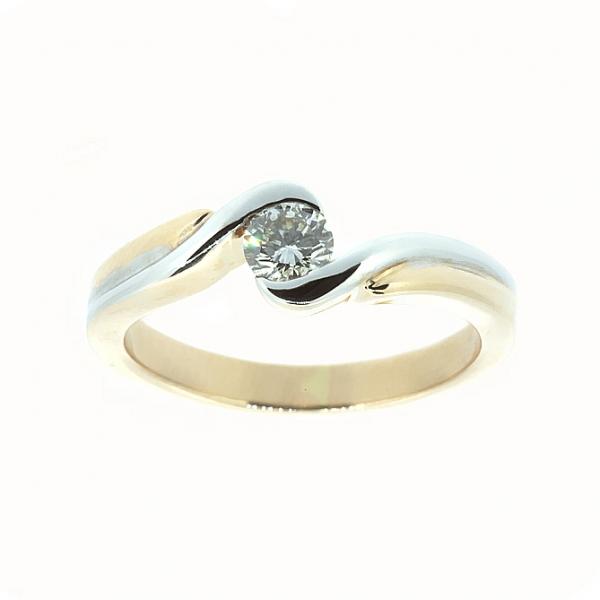Ювелирное кольцо из красного золота 585 пробы с бриллиантом RD-6273