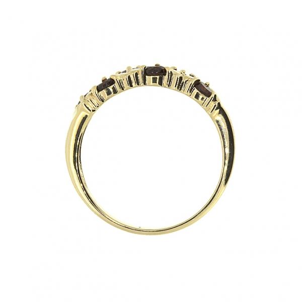 Ювелирное кольцо из красного золота 585 пробы с гранатами RGn-32792