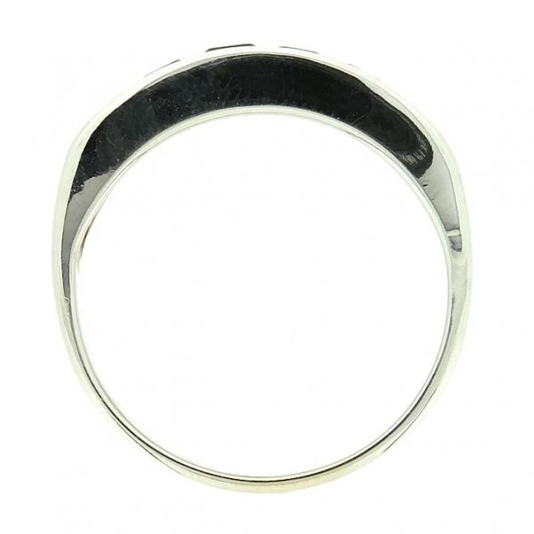 Ювелирное кольцо из белого золота 585 пробы с сапфирами RS-6121w