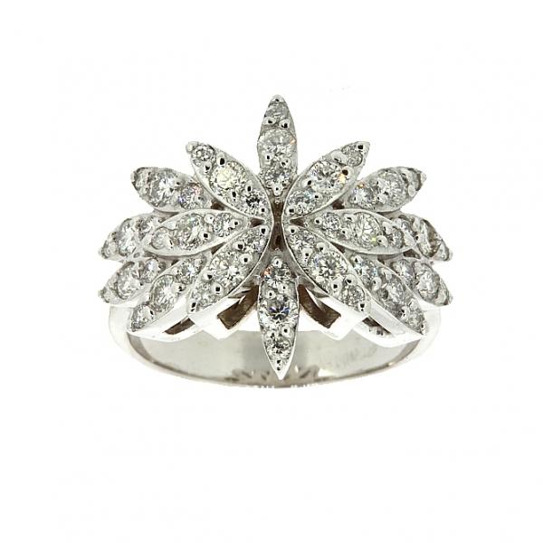 Ювелирное кольцо из белого золота 585 пробы с бриллиантами RD-6216-2w
