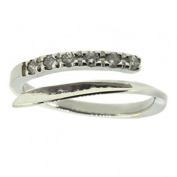 Ювелирное кольцо из белого золота 585 пробы с бриллиантами RD-6400w