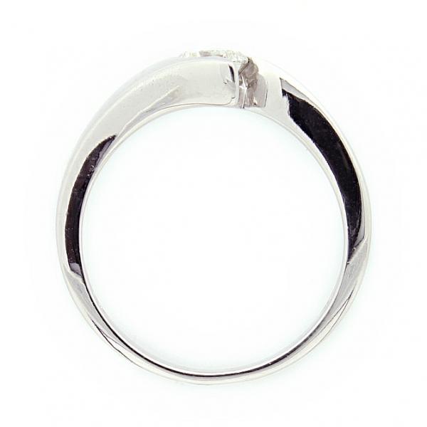 Ювелирное кольцо из белого золота 585 пробы с бриллиантом RD-6075-6w