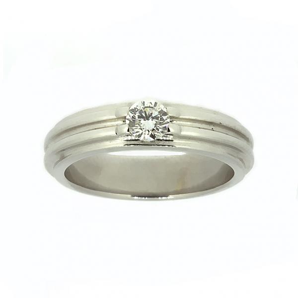 Ювелирное кольцо из белого золота 585 пробы с бриллиантом RD-6258w