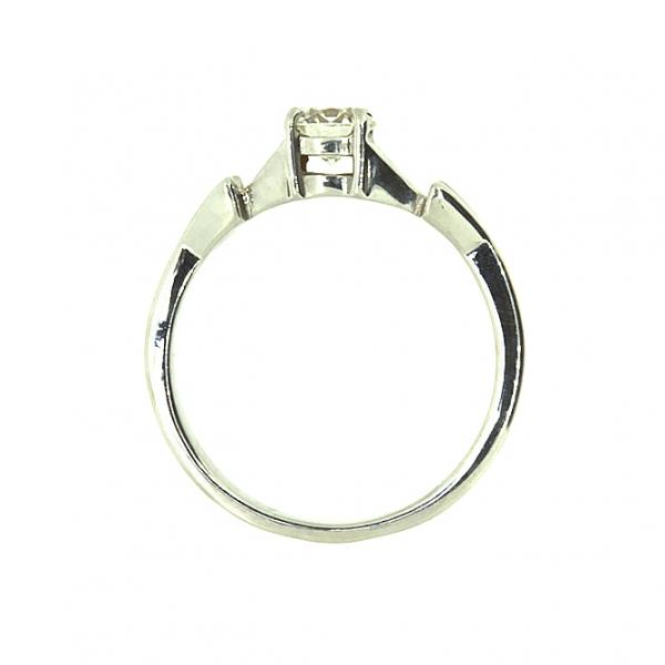 Ювелирное кольцо из белого золота 585 пробы с бриллиантом RD-6265-5w