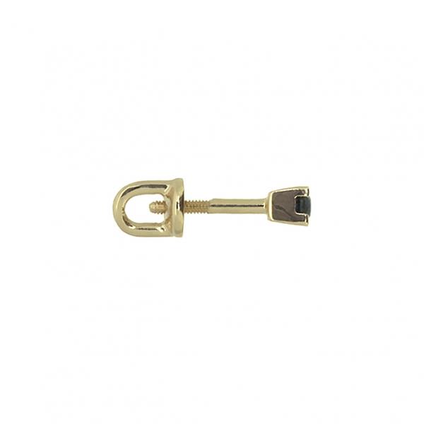 Золотые серьги-пусеты в красном золоте с сапфирами ES-6559