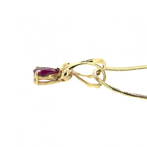 Ювелирная подвеска из красного золота 585 пробы с рубином PR-6047