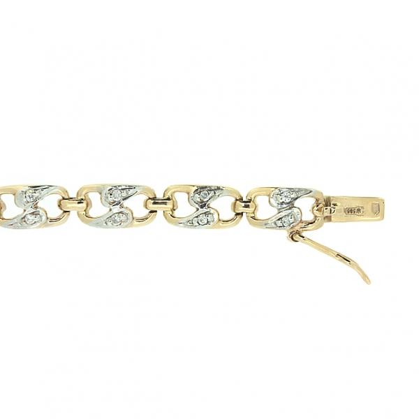 Ювелирный браслет из красного золота 585 пробы с бриллиантами BC-1001/22