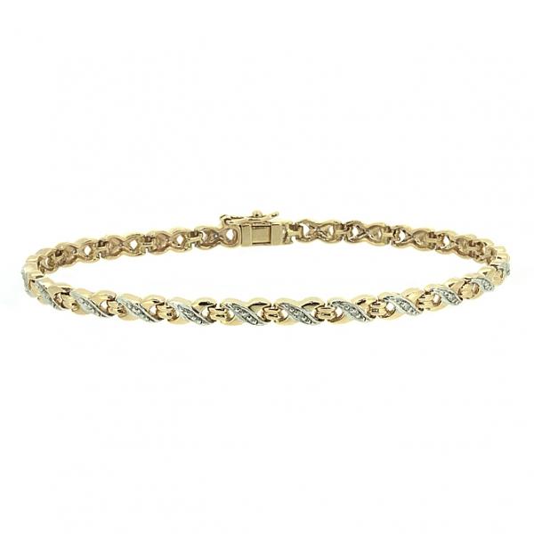 Ювелирный браслет из красного золота 585 пробы с бриллиантами BC-1006/24