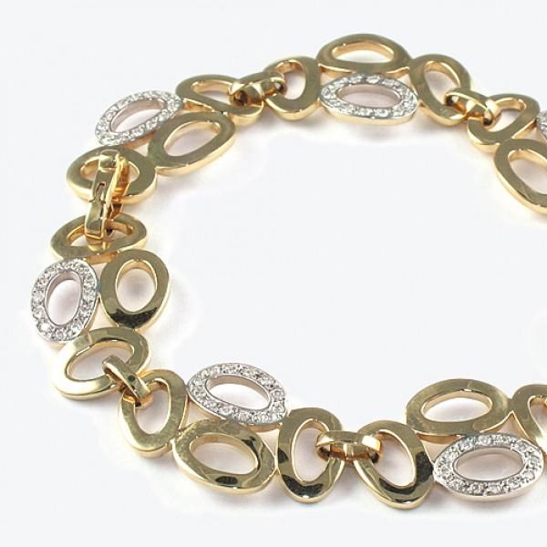 Ювелирный браслет из красного золота 585 пробы с бриллиантами BC-6255/7