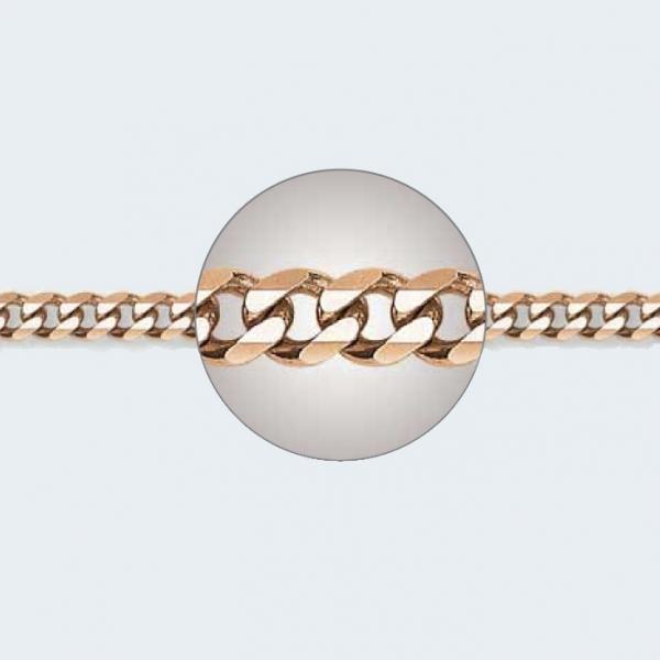 Браслет из красного золота 585 пробы НБ 12-002 с диаметром золотой проволоки 1,20 мм