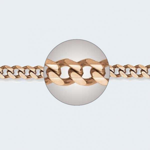Браслет из красного золота 585 пробы НБ 12-002 с диаметром золотой проволоки 1,50 мм