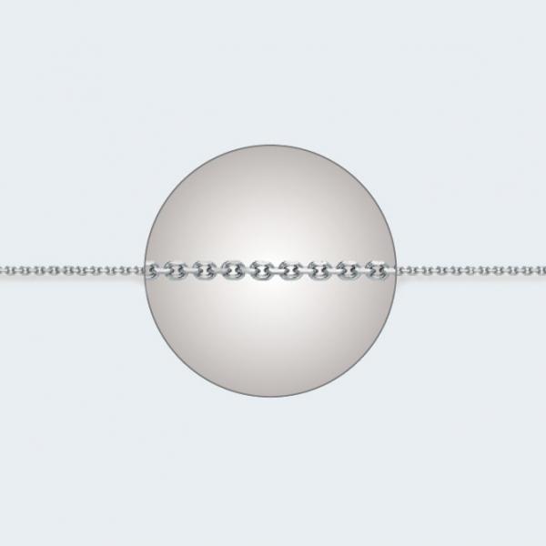 Цепочка из белого золота 585 пробы НЦ 18-053-3 с диаметром золотой проволоки 0,30 мм