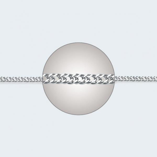 Цепочка из белого золота 585 пробы НЦ 18-076-3 с диаметром золотой проволоки 0,30 мм