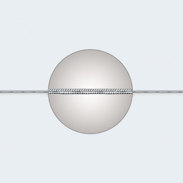 Цепочка из белого золота 585 пробы НЦ 18-078-3 с диаметром золотой проволоки 0,25 мм