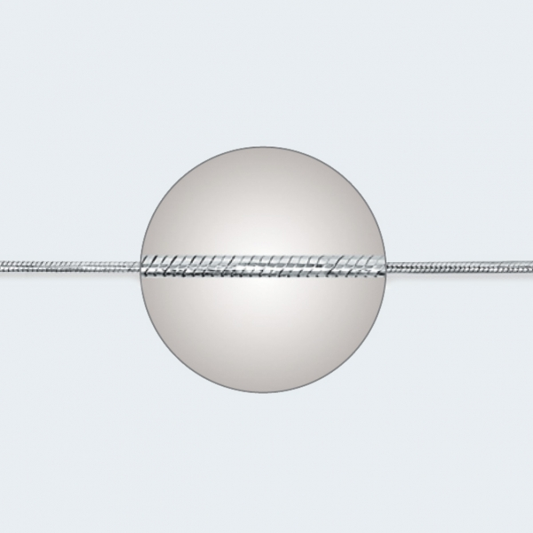 Цепочка из белого золота 585 пробы НЦ 18-078-3 с диаметром золотой проволоки 0,35 мм