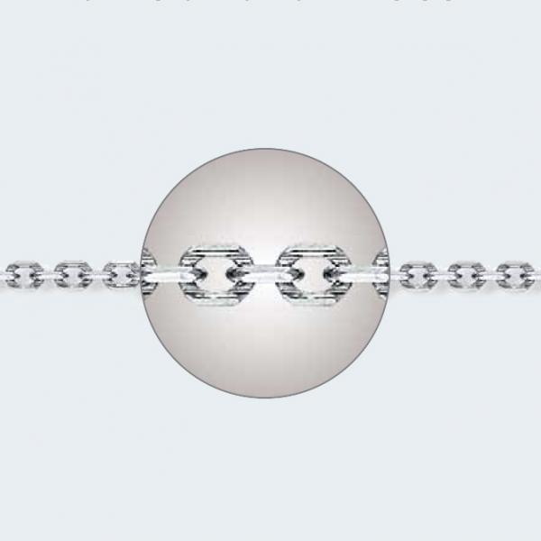 Цепочка из белого золота 585 пробы НЦ 18-205-3 с диаметром золотой проволоки 0,80 мм