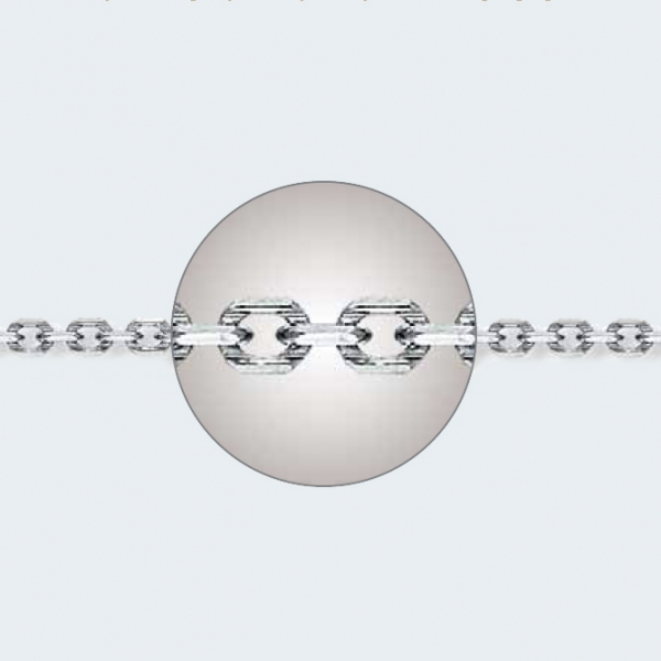Браслет из белого золота 585 пробы НБ 18-205-3 с диаметром золотой проволоки 0,80 мм