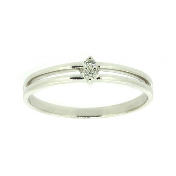 Ювелирное кольцо из белого золота 585 пробы с бриллиантами RD-6727w