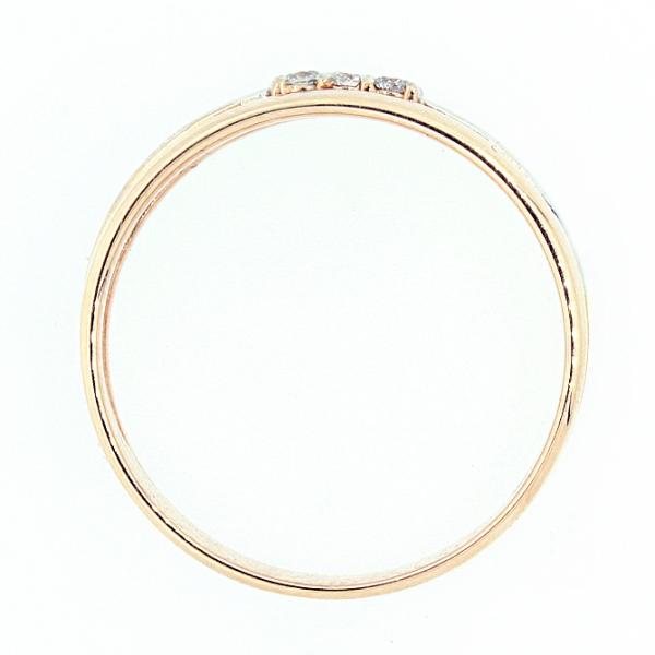 Ювелирное кольцо из красного золота 585 пробы с бриллиантами RD-5507