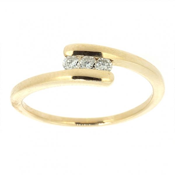 Ювелирное кольцо из красного золота 585 пробы с бриллиантами RD-6678