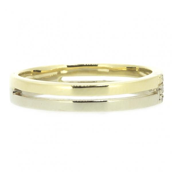 Ювелирное кольцо из желтого и белого золота 585 пробы с бриллиантами RD-6725y