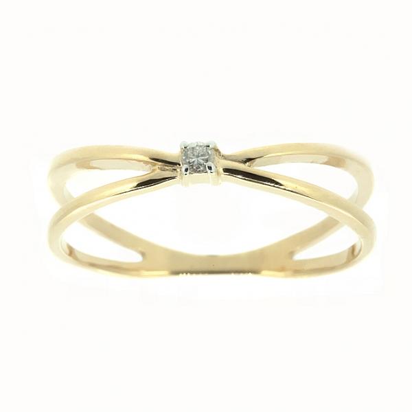 Ювелирное кольцо из красного золота 585 пробы с бриллиантом RD-6700