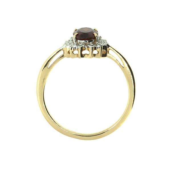 Кольцо из желтого золота 585 пробы с рубином RR-6702y