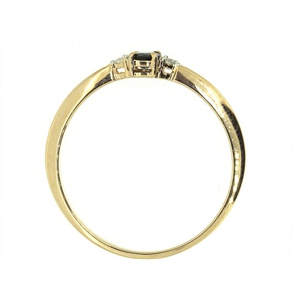 Ювелирное кольцо из розового золота 585 пробы с сапфиром и бриллиантами RS-6735