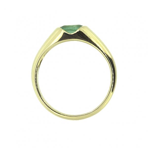Ювелирное кольцо из жёлтого золота 585 пробы с изумрудом RE-15790y