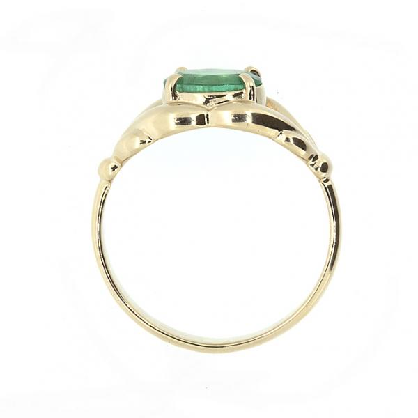 Ювелирное кольцо из красного золота 585 пробы с изумрудом RE-6599