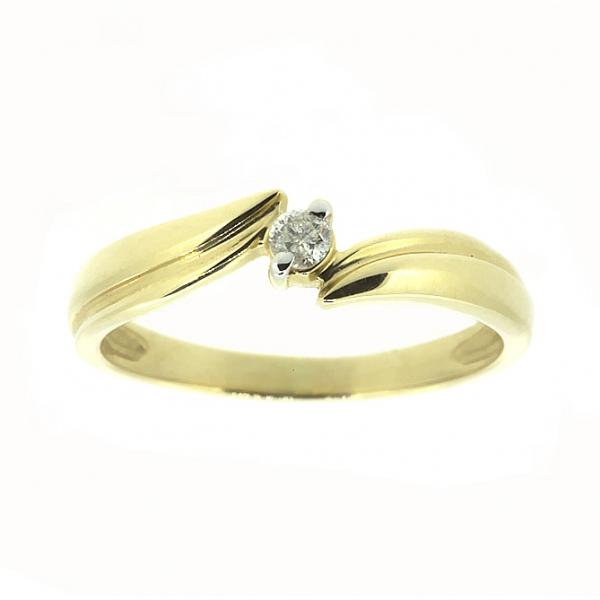 Ювелирное кольцо из жёлтого золота 585 пробы с бриллиантом RD-4285y