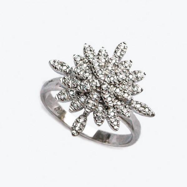 Ювелирное кольцо из белого золота 585 пробы с бриллиантами RD-6641w